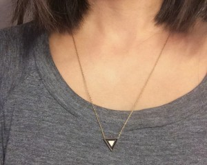 Peak-a-boo!  Necklace length is important, not just for styling but also from a practical standpoint!